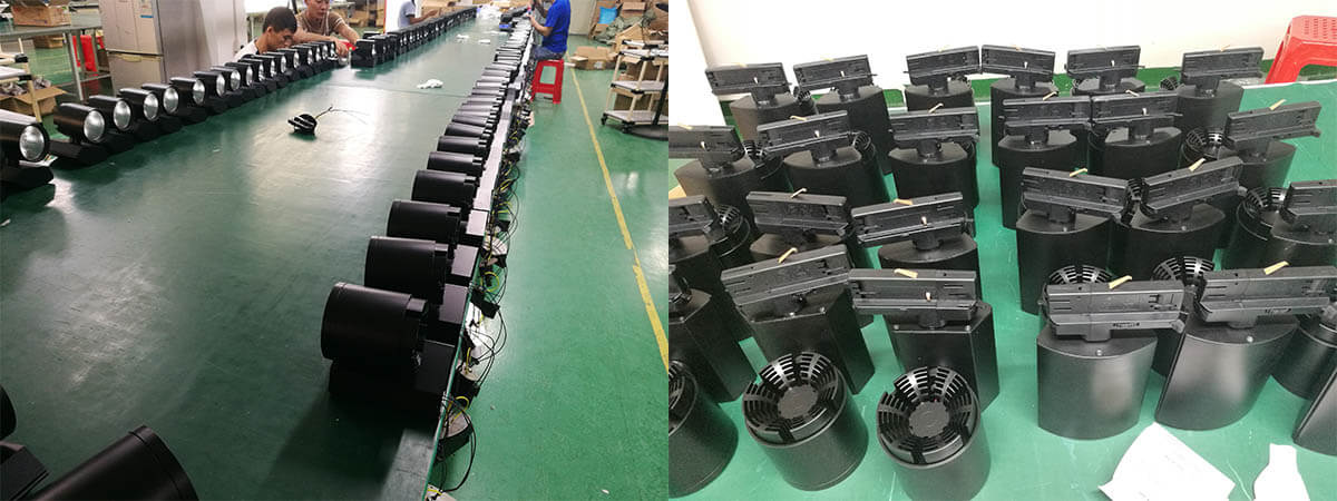 dali dimmable track light production