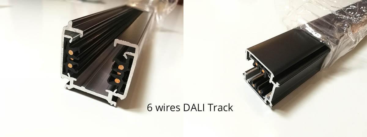 DALI dimmable track rail